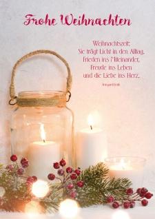 Weihnachtskarte Frohe Weihnachten (6 Stück) Irmgard Erath Grußkarte mit Kuvert