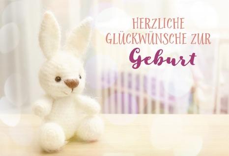 Glückwunschkarte Geburt Kuschel-Tier 6 St Kuvert Wunder Ankunft Liebe Staunen