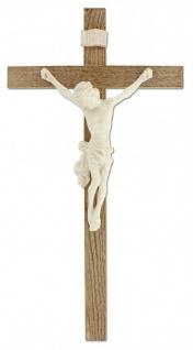 Wandkreuz Kruzifix Linde mittel gebeizt Ahornkorpus Jesus Körper Kreuz 27, 5 cm