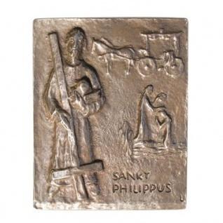 Namenstag Philippus Philipp 13 x 10 cm Bronzerelief Wandbild Schutzpatron