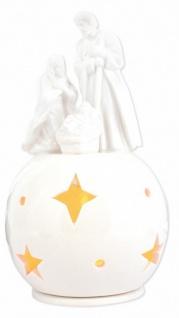 Porzellan-Figur Heilige Familie 16, 5 cm, mit Teelicht