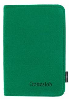 Gotteslob-Buchhülle Filz Dunkelgrün Reißverschluss Gesangbuch Einband