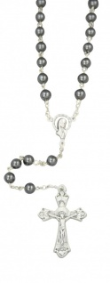 Rosenkranz Maria Mutter Gottes Hämatit Perle 6 mm 47 cm Rosenkranz Schmuck