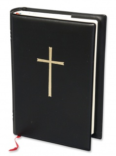Gotteslob Buchhülle Kreuz Gold Schwarz für Kommunion Gesangbuch Katholisch