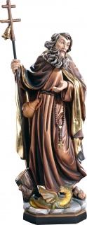 Heiliger Beatus mit Drache Holzfigur geschnitzt Südtirol Schutzpatron