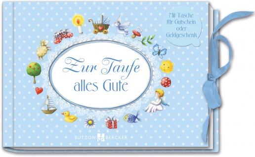 Geld-Geschenkbuch Zur Taufe alles Gute für Jungs