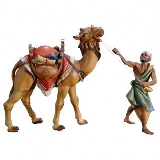 Kamelgruppe stehend 3 Teile Holzfigur geschnitzt Krippenfigur Ulrich Krippe