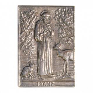 Namenstag Franz 8 x 6 cm Bronzeplakette Bronzerelief Wandbild Schutzpatron
