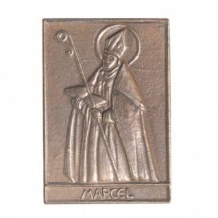 Namenstag Marcel 8 x 6 cm Bronzeplakette Bronzerelief Wandbild Schutzpatron