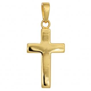 Kreuz Schmuck Silber 925 vergoldet Kruzifix Anhänger