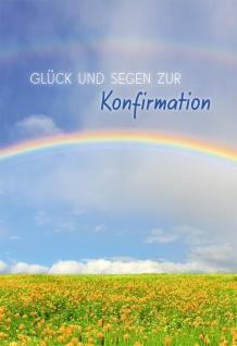 Konfirmation Grußkarte Glück und Segen zur Konfirmation (6 Stck) Bittner