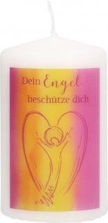 Stumpenkerze Dein Engel beschütze dich Schutzengel Tischkerze 10 cm