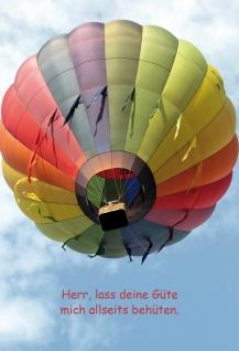 Grußkarte Bibelwort Psalm 6 Stück Kuvert Lutherbibel Heißluftballon Himmel