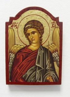 Ikone Heiliger Michael 14 x 10 cm vergoldet Handarbeit aus Griechenland