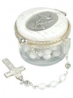 Rosenkranz Geschenkset zur Erstkommunion, rund