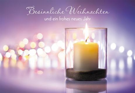 Glückwunschkarte Besinnliche Weihnachten (6 Stück) Windlicht Grußkarte Kuvert