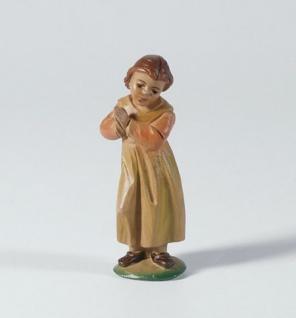 Tiroler Krippe Mädchen betend bemalt bunt 15 cm Krippen Figur Weihnachten