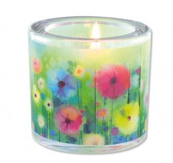 Glaswindlicht Das Leben Teelicht Kerzenhalter Geschenkbox Glas für Windlicht - Vorschau 2