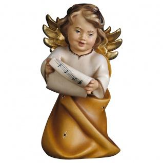 Herzengel mit Noten Holzfigur geschnitzt Engelfigur Südtirol
