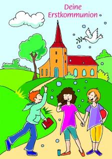 Kommunionkarte Geldgeschenk Deine Erstkommunion (6 Stck) Glückwunschkarte Kuvert