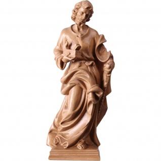 Heiliger Josef Heiligenfigur Holz, geschnitzt gebeizt Südtiroler Schnitzkunst