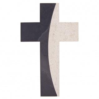 Wandkreuz Schiefer Kalkstein Bogen Kreuz 22 x 15 cm Kruzifix Christlich