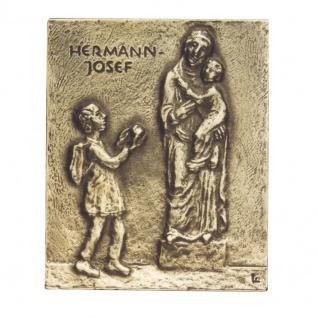 Namenstag Hermann Josef 13 x 10 cm Bronzerelief Wandbild Schutzpatron