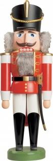 Nussknacker Husar rot 37 cm Holz-Figur Handarbeit aus Seiffen im Erzgebirge