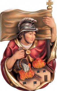 Heiliger Florian Brustbild Holzfigur geschnitzt Südtirol Schutzpatron Märtyrer