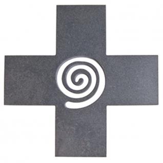 Wandkreuz Schiefer Kreuz Lebensspirale 15 cm Kruzifix Christlich