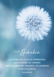 Trauerkarte Stilles Gedenken Dietrich Bonhoeffer (6 Stück) Grußkarten mit Kuvert