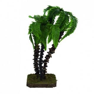 Palme 3 teilig 21 cm Holz handgefertigt Zubehör für Weihnachtskrippe - Vorschau