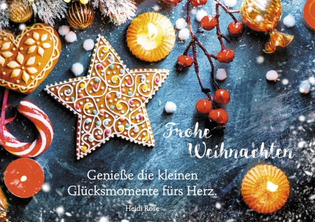 Postkarte Frohe Weihnachten Weihnachtsnascherei (10 Stück) mit Adressfeld