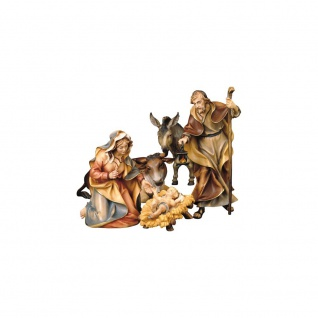 Ulrich Krippe Heilige Familie Ochs Esel Holz Weihnachtskrippe Südtirol