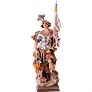 Heiliger Florian Holzfigur, geschnitzt handbemalt