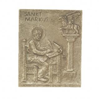 Namenstag Markus 13 x 10 cm Namenspatron Bronzerelief Wandbild Schutzpatron
