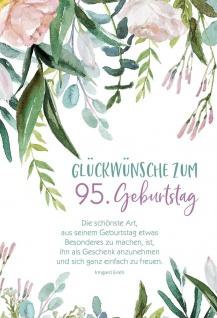 Glückwunschkarte 95. Geburtstag 3 St Kuvert Irmgard Erath Gratulation Freude