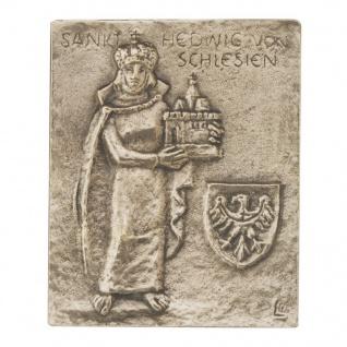 Namenstag Hedwig von Schlesien 13 x 10 cm Bronzerelief Wandbild Schutzpatron