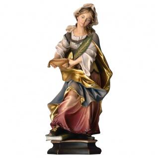 Heilige Märtyrerin mit Buch & Palme Heiligenfigur Holz geschnitzt