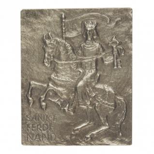 Namenstag Ferdinand 13 x 10 cm Bronzerelief Wandbild Schutzpatron