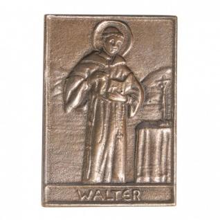 Namenstag Walter 8 x 6 cm Bronzeplakette Bronzerelief Wandbild Schutzpatron