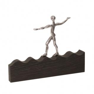 Bronzefigur Auf der Welle des Erfolges 17 cm Bronze Skulptur Statue