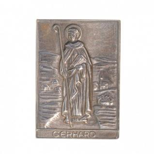 Namenstag Gerhard 8 x 6 cm Bronzeplakette Bronzerelief Wandbild Schutzpatron