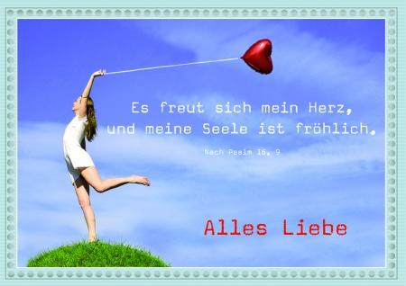 Postkarte zum Geburtstag Alles Liebe (10 Stck) Glückwunschkarte