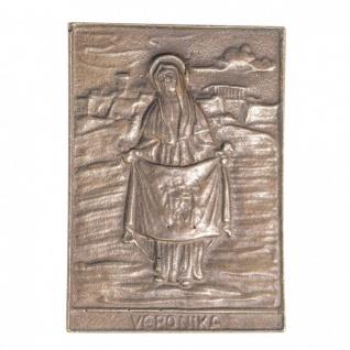 Namenstag Veronika 8 x 6 cm Bronzeplakette Bronzerelief Wandbild Schutzpatron - Vorschau
