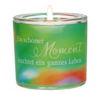 Glaswindlicht Schöner Moment Teelicht Kerzenhalter Geschenkbox Glas für Windlicht
