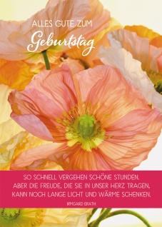 Postkarte Alles Gute zum Geburtstag (10 St) Mohnblumen Irmgard Erath Grußkarte