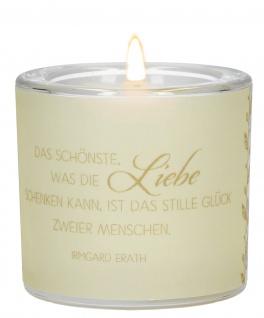 Windlicht Ehejubiläum Irmgard Erath Glas Teelicht Pergament-Umleger