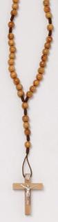 Taschenrosenkranz geknüpft Olivenholz 28, 5 cm
