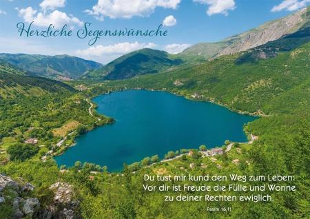 Postkarte Geburtstag 10 St Adressfeld Bibelwort Psalm Segen-Wunsch Gratulation